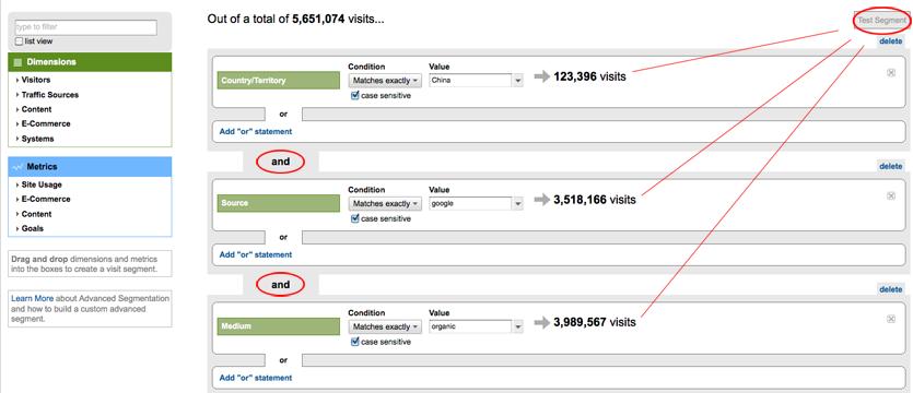 Advanced Segments with Google Analytics