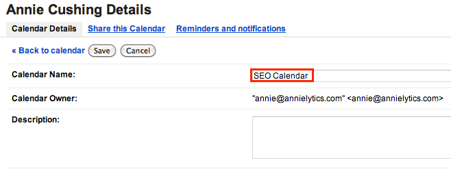 rename your calendar of Google algorithm updates