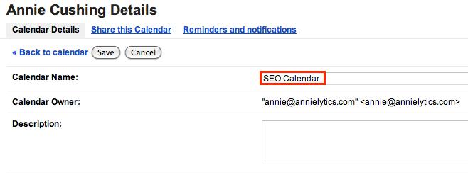 rename your calendar of Google algorithm updates