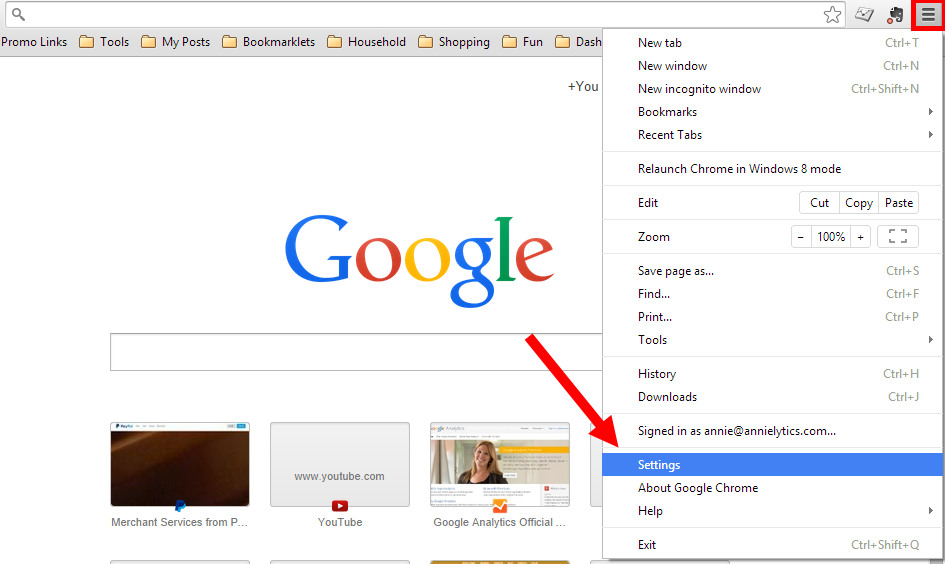 how to delete account on google chrome mail