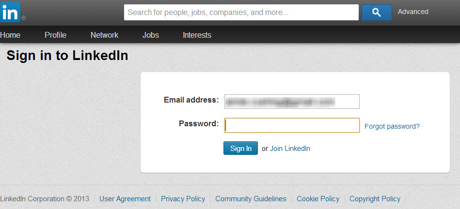 LinkedIn repeated logins