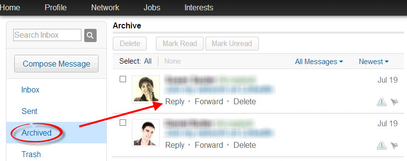 reply to LinkedIn connection message