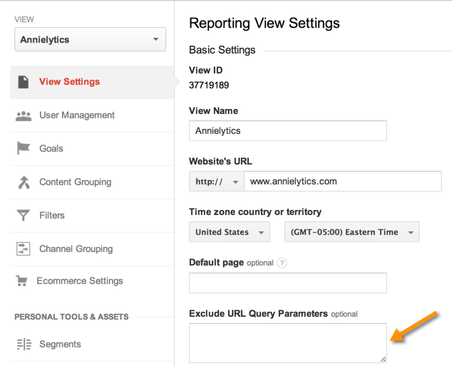 Google Analytics exclude query parameters