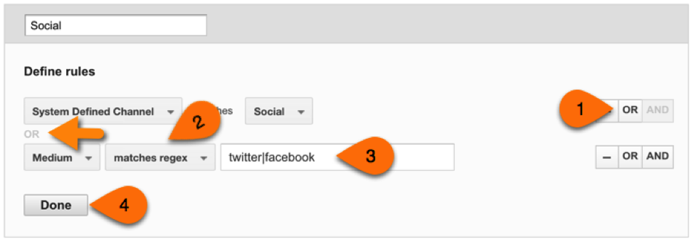 example screenshot in analytics audit template