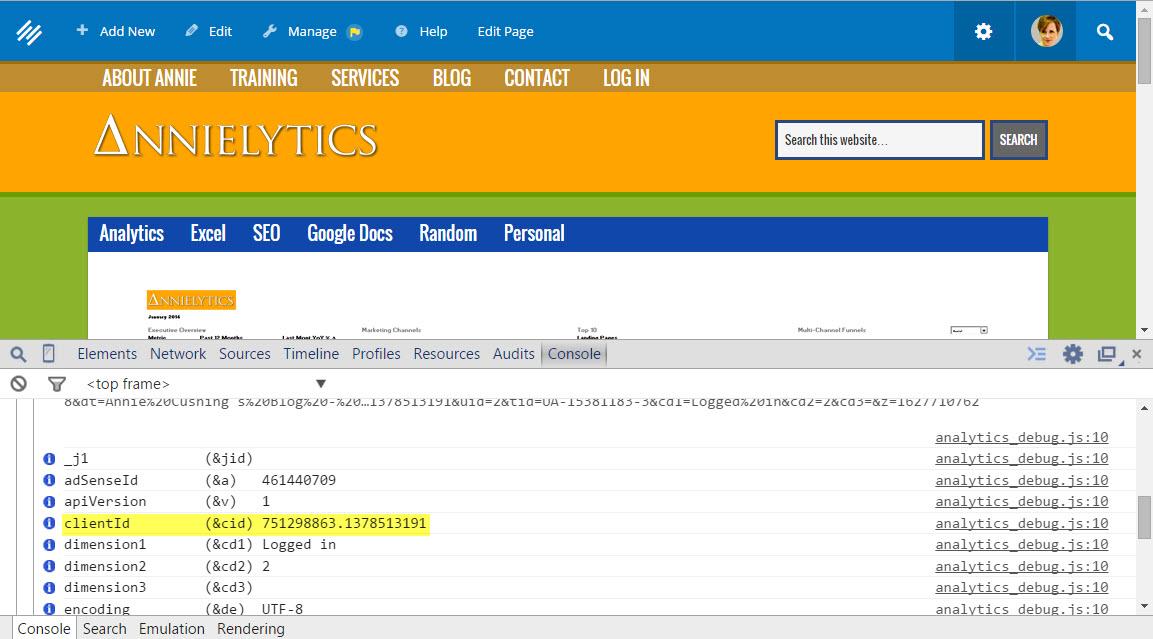 clientID using Universal Analytics in Google Analytics