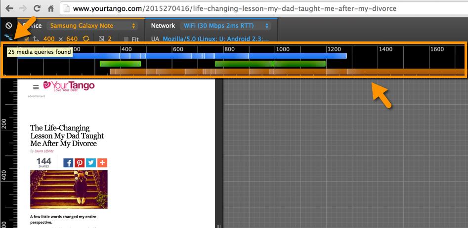 media query emulator in Crhome