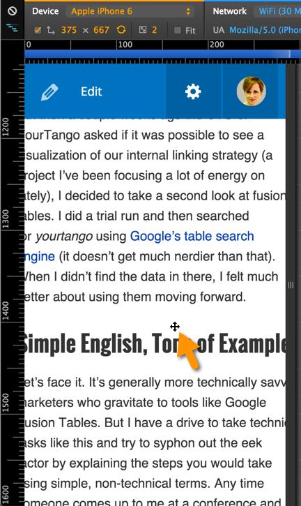 zoom emulation in Chrome Developer Tools Mobile Emulator