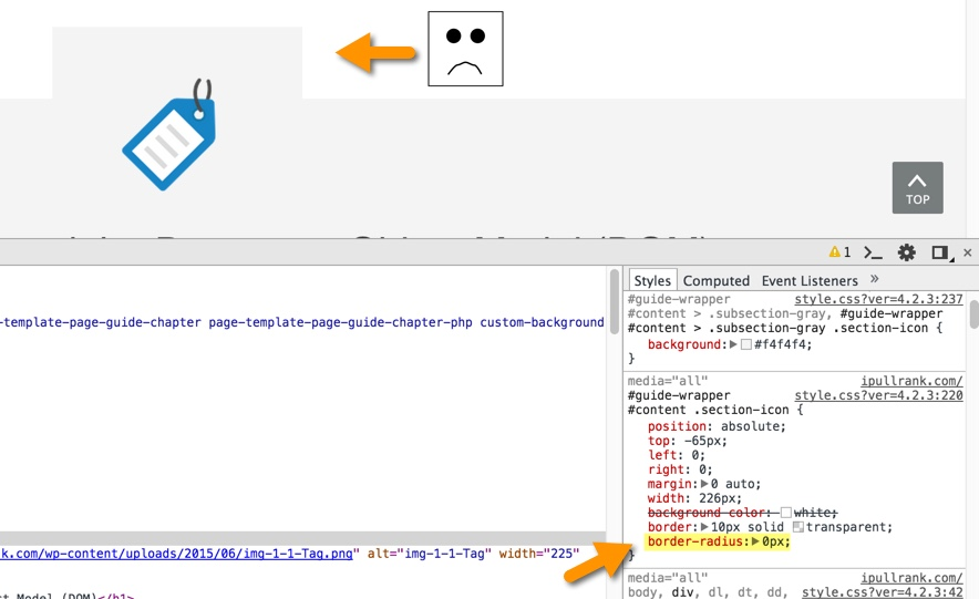 section tag in css