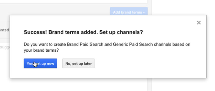 brand channel in Google Analytics