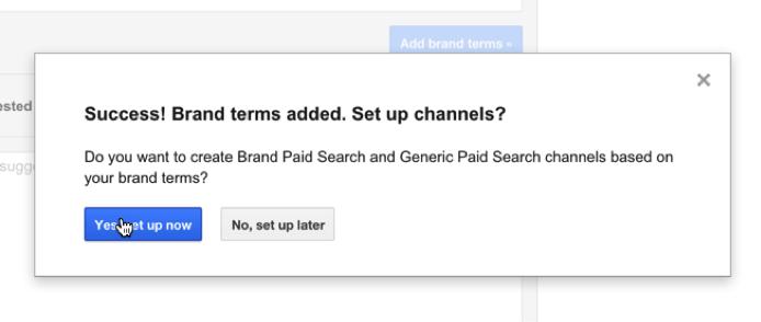 brand channel in Google Analytics