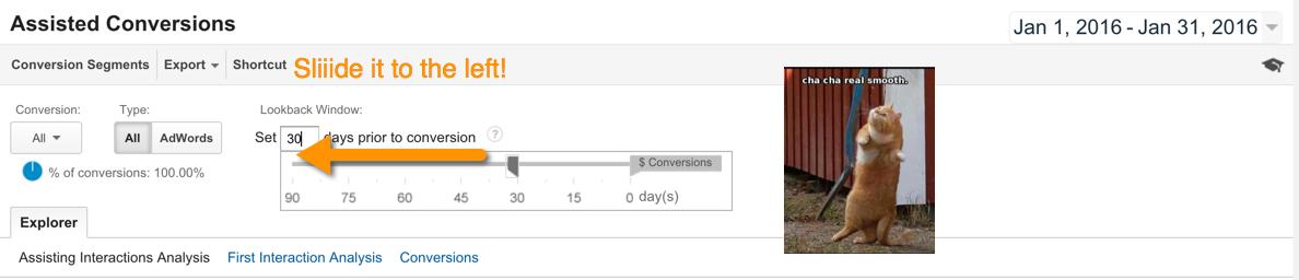 Lookback Window in Google Analytics