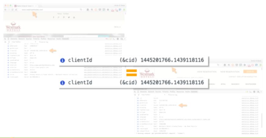 Google Analytics cross-domain tracking clientId