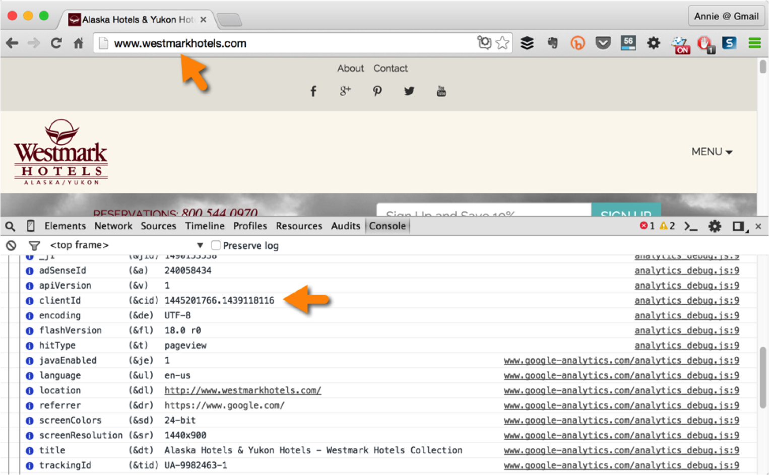 cross-domain tracking Google Analytics clientid