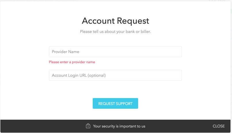 request account in Mint