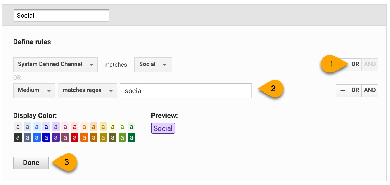 customizing channel groupings in Google Analytics