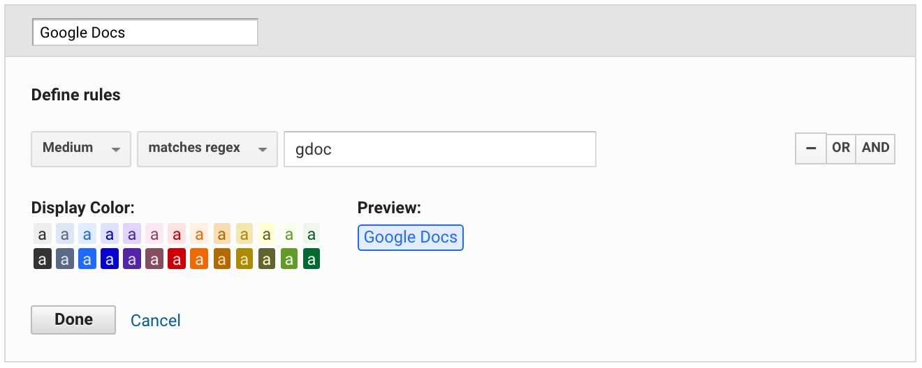 how I created a custom Google Doc channel in Google Analytics
